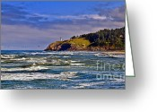 Fresnel Greeting Cards - Seacape Greeting Card by Robert Bales