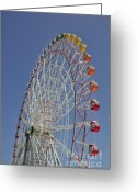 Ferris Wheel Greeting Cards - Seacle Rinku Pleasure Town ferris wheel Greeting Card by Andy Smy