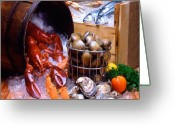 Oysters Greeting Cards - Seafood Fresh Greeting Card by Vance Fox