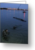 Special Delivery Greeting Cards - Seal Delivery Vehicle Night Operations Greeting Card by Michael Wood