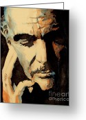 Scottish Art Greeting Cards - Sean Connery Greeting Card by Paul Lovering