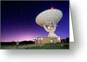 Telescope Greeting Cards - Search For Extraterrestials Greeting Card by Photo by cuellar
