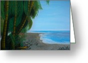 Nicole Jean-louis Greeting Cards - Seascape 3 Greeting Card by Nicole Jean-Louis