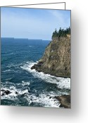 Oregon Wildlife Digital Art Greeting Cards - Seascape Greeting Card by Alex Johnson
