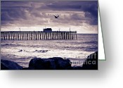 Clemente Greeting Cards - Seascape Art Greeting Card by Lillian Michi Adams
