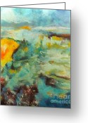 Seacsape Mixed Media Greeting Cards - Seascape Greeting Card by Dragica  Micki Fortuna