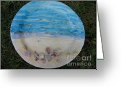 Ocean. Beach Ceramics Greeting Cards - Seascape Greeting Card by Julia Van Dine