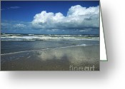 Bodies Greeting Cards - Seascape.Normandy.France Greeting Card by Bernard Jaubert