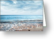 Horizon Greeting Cards - Seashore Greeting Card by Carlos Caetano