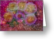 Chromatic Painting Greeting Cards - Seaside Daisies Greeting Card by Don  Wright