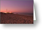 Sunset Framed Prints Photo Greeting Cards - Seaside Park I - Jersey Shore Greeting Card by Angie McKenzie