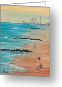 Rides Greeting Cards - Seaside Greeting Card by Pete Maier