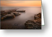 San Diego California Greeting Cards - Seaside Reef Sunset 2 Greeting Card by Larry Marshall