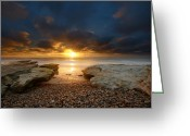 San Diego California Greeting Cards - Seaside Reef Sunset 9 Greeting Card by Larry Marshall