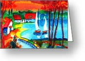 I Want You Greeting Cards - Seaside Greeting Card by Roland Reiff