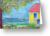 Patricia Taylor Greeting Cards - Seaside Villa Greeting Card by Patricia Taylor