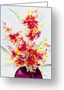 Violet Greeting Cards - Season of Purpose Greeting Card by Jerome Lawrence