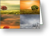 Natures Beauty Greeting Cards - Seasons Delight Greeting Card by Lourry Legarde