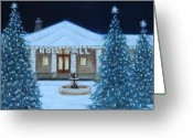 Lanscape Pastels Greeting Cards - Seasons Greeting Greeting Card by Pat Neely