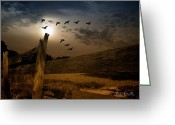 Full Moon Greeting Cards - Seasons of Change Greeting Card by Bob Orsillo