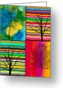 October Greeting Cards - Seasons Greeting Card by Ramneek Narang