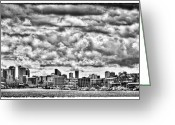 Seattle Skyline Greeting Cards - Seattle Cityscape II Greeting Card by David Patterson