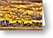 Lake Union Greeting Cards - Seattle Cityscape III Greeting Card by David Patterson