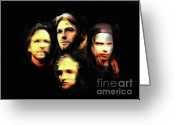 Pearl Jam Greeting Cards - Seattle Deathrow Greeting Card by Hugo Diaz