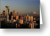 Seattle Greeting Cards - Seattle Equinox Greeting Card by Winston Rockwell