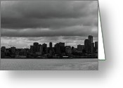 Seattle Skyline Greeting Cards - Seattle Skyline Greeting Card by Peter Verdnik