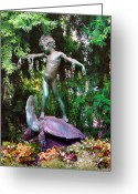Fairmount Park Greeting Cards - Seaweed Girl Greeting Card by Bill Cannon