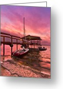 Florida Bridge Greeting Cards - Sebring Sailing Greeting Card by Debra and Dave Vanderlaan
