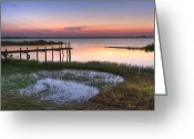 Beachscape Greeting Cards - Sebring Sunrise Greeting Card by Debra and Dave Vanderlaan