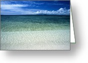 Oceania Greeting Cards - Secluded White Sands Beach Greeting Card by James Forte