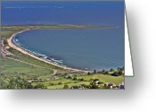 Aerials Greeting Cards - Second Beach Newport Rhode Island Greeting Card by Duncan Pearson
