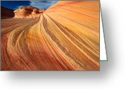 Barren Land Greeting Cards - Second Wave Surf Greeting Card by Inge Johnsson