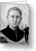James Bond Greeting Cards - Secret Agent Greeting Card by Andrew Read