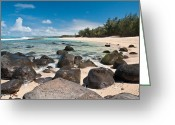 Quite Greeting Cards - Secret Beach Greeting Card by Jim Chamberlain
