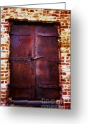 Old Doors Greeting Cards - Secret Door Greeting Card by Cheryl Young