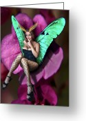 Secretive Greeting Cards - Secret Fairy Greeting Card by Steven Love