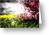 Brushes Digital Art Greeting Cards - Secret Garden Greeting Card by Andrea Barbieri