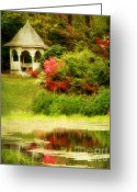 Dogwood Lake Greeting Cards - Secret Garden Greeting Card by Darren Fisher