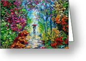 New Orleans Greeting Cards - Secret Garden Oil Painting - B. Sasik Greeting Card by Beata Sasik