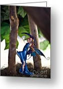 Fairies Art Greeting Cards - Secret hiding spot Greeting Card by Angelina Cornidez