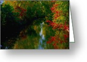 Riviere Greeting Cards - Secret Horse Creek Greeting Card by Contemporary Luxury Fine Art
