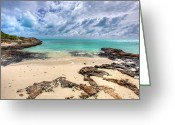 Beach Scenery Greeting Cards - Secret of West Harbour Greeting Card by Chad Dutson