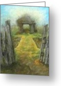 Early Pastels Greeting Cards - Secrets of the Past Greeting Card by Denise  Cox