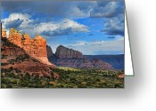 Storm Digital Art Greeting Cards - Sedona After The Storm Greeting Card by Dan Turner