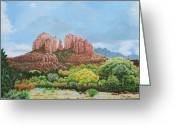 Photorealism Greeting Cards - Sedona AZ Greeting Card by Mike Ivey