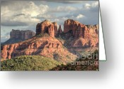 Natural Formation Greeting Cards - Sedona Red Rock Vista Greeting Card by Sandra Bronstein